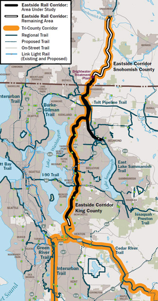 Image: Eastside Rail Corridor map