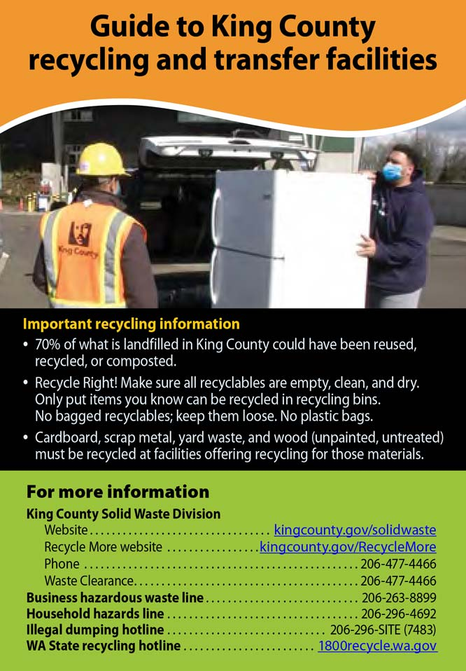 Guide to King County Recycling & Transfer Facilities