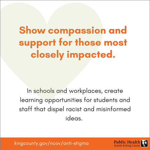 Show compassion and support for those most closely impacted.