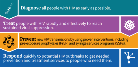 End the HIV Epidemic initiative: 4 strategies
