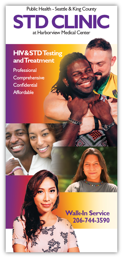 King County STD Clinic brochure in English
