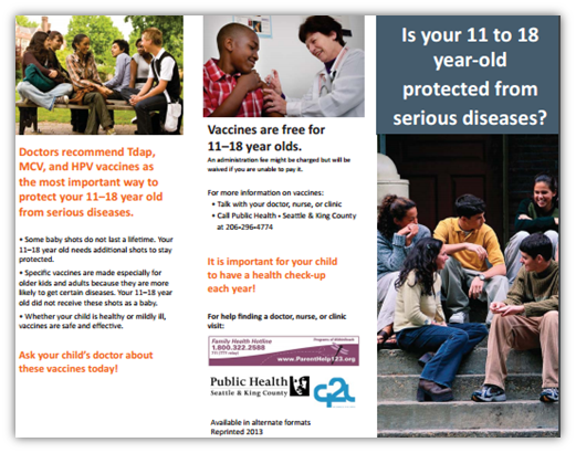 Is your 11 to 18 year-old protected from serious diseases?
