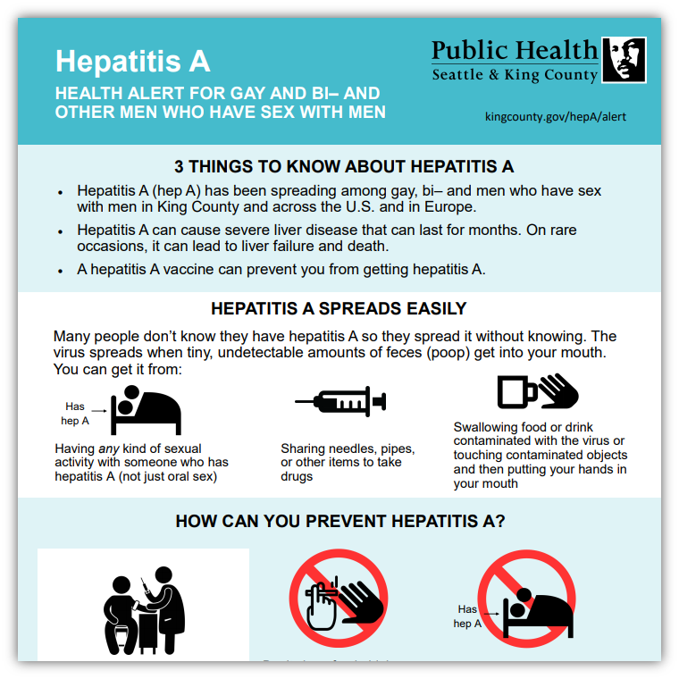 Hepatitis A: Health warning for men who have sex with men