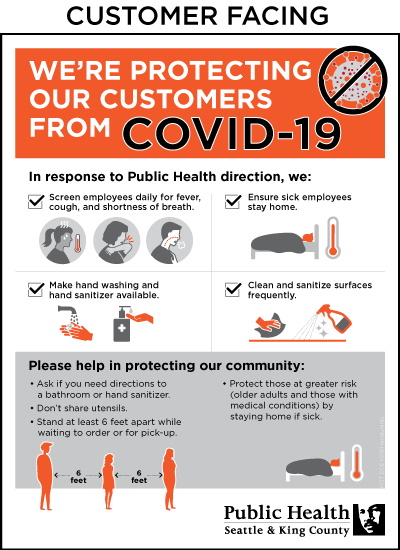 Minimize risk of COVID-19 posters - King County