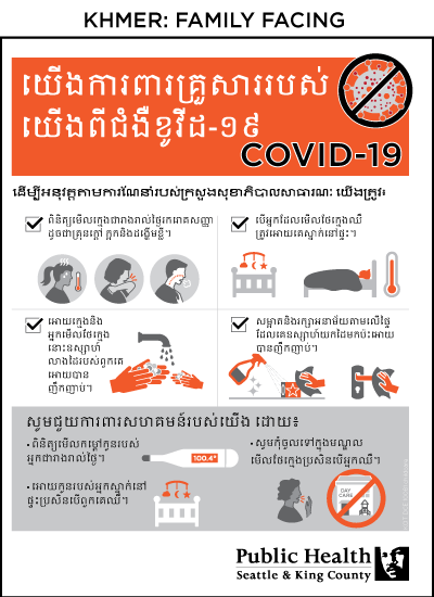 Poster for families at childcare centers in Khmer