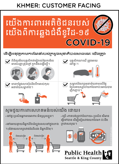 Poster for grocery shoppers in Khmer