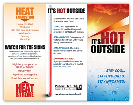 Hot Weather How To Stay Cool And Safe King County