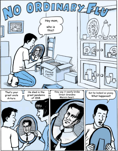 No Ordinary Flu comic book from Public Health - Seattle & King County