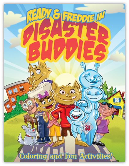 Disaster Buddies coloring book and activities