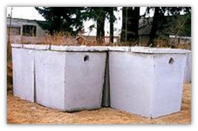 Septic tanks above ground