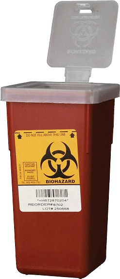 Sharps/biohazardous waste container