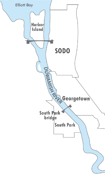 Duwamish River map