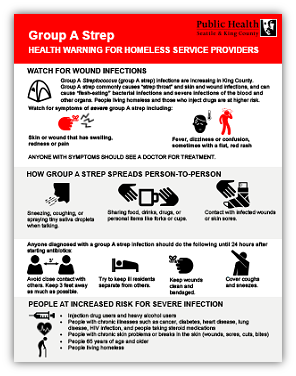 Group A Strep: Health warning for homeless service providers