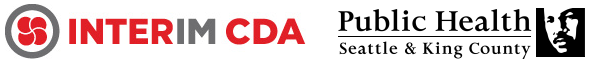 Interim CDA logo and Public Health logo