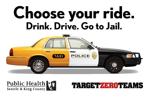 Choose your ride. Don't drink and drive.