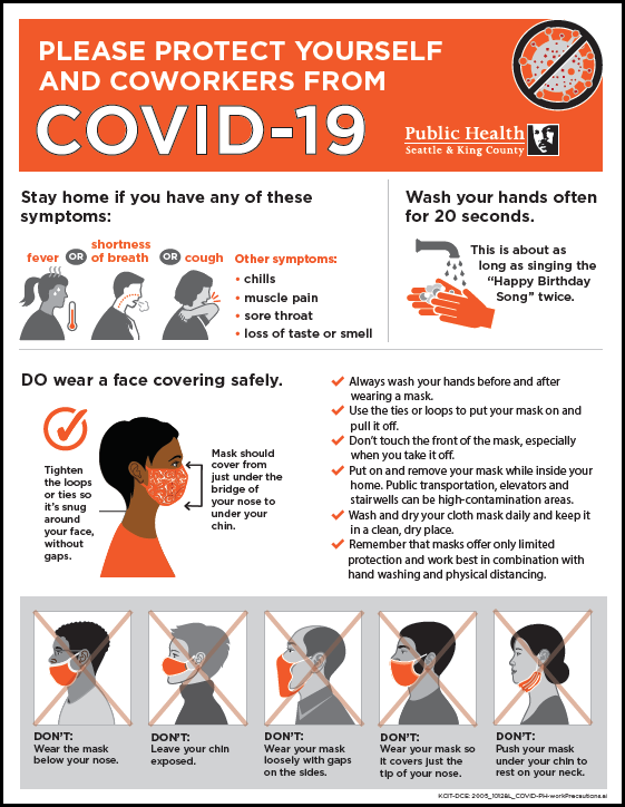 Please protect yourself and coworkers from COVID-19