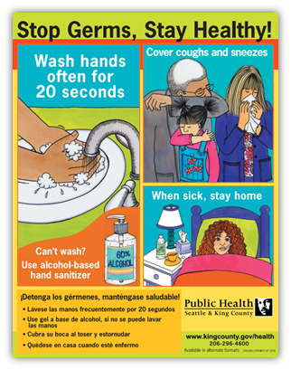 Stop Germs, Stay Healthy poster