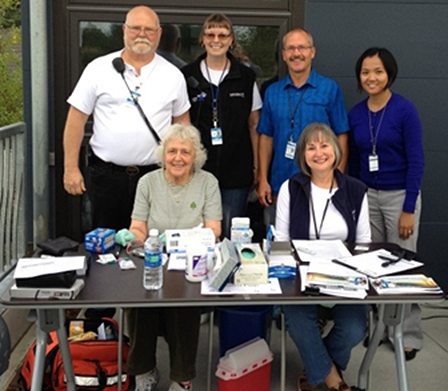 PHRC volunteers at the Seattle King County Clinic