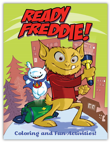 Ready Freddie! coloring book and activities