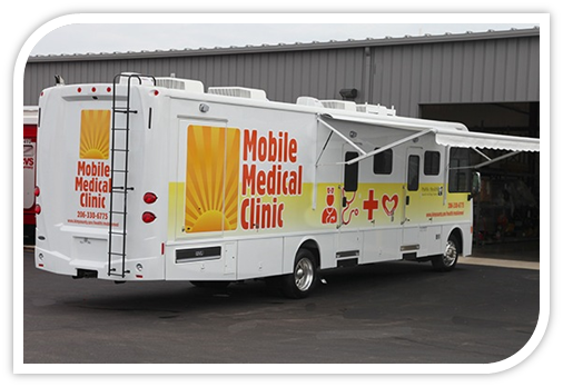 Mobile medical care for people living homeless