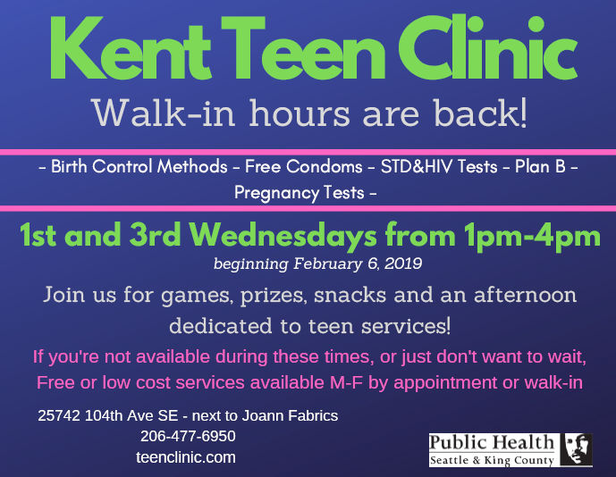 Click this image to learn more about Teen Clinics