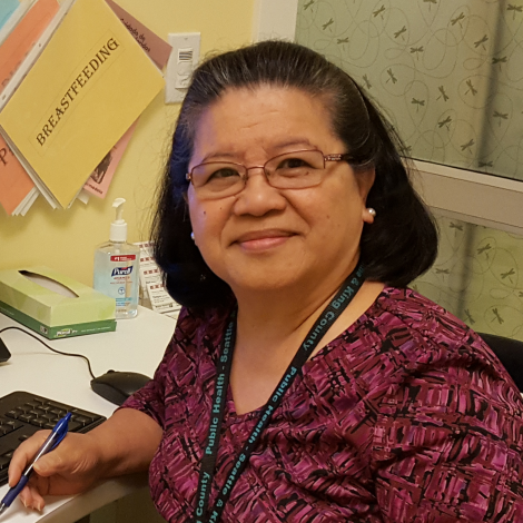 "Aida at Kent Public Health Center states, ""The best part of my job is providing support and education to pregnant women and new moms."""