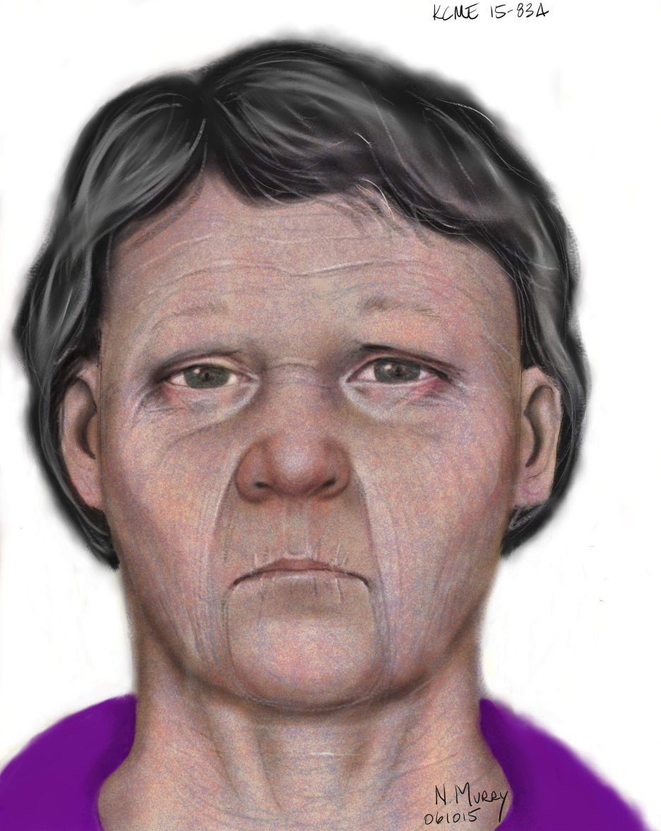 Case #15-0834: Adult (middle-aged) female found off Frager Rd, Kent on May 27, 2015.