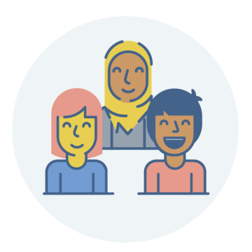 icon image of 3 women