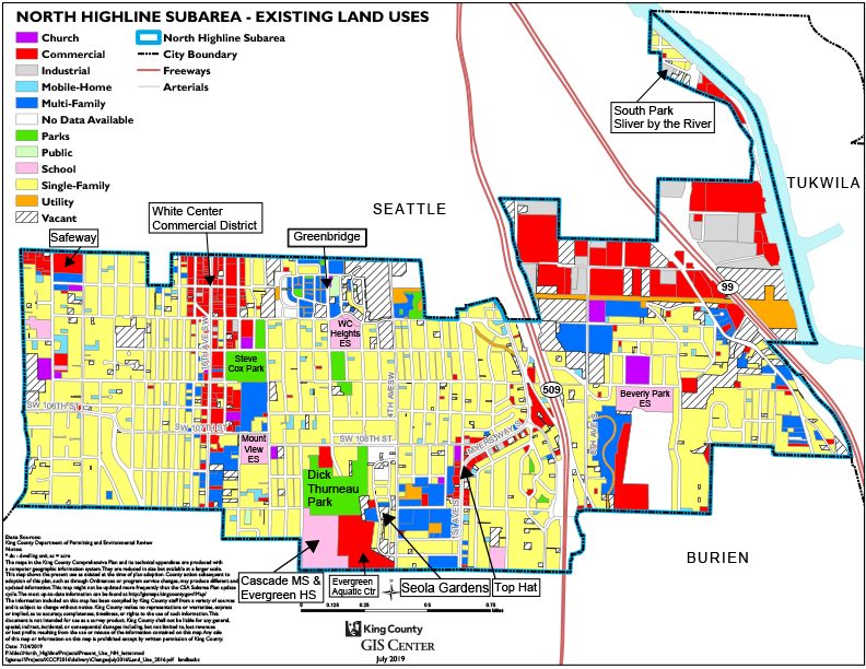 North Highline zoning map