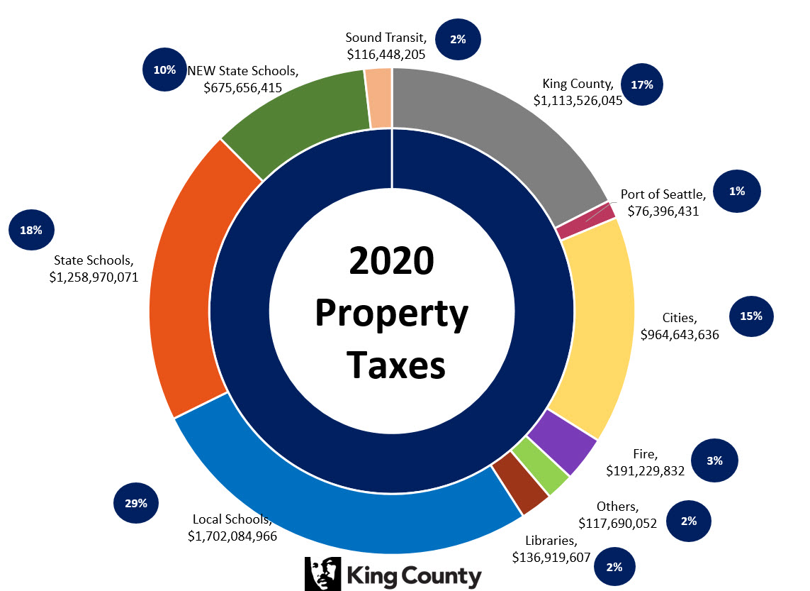 2020 Property Taxes Pie Chart