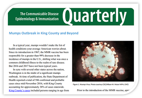 Quarterly newsletter on communicable disease, epidemiology and immunizations
