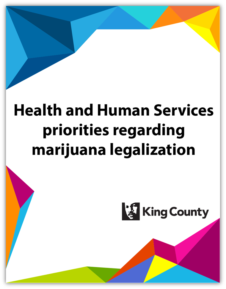 Health and Human Services priorities regarding marijuana legalization