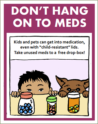 Medication-disposal downloadable content