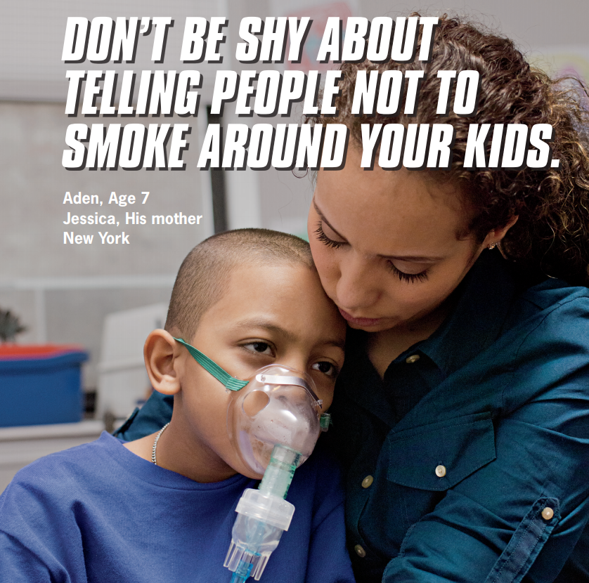 Jessica urges people not to be shy about telling people not to smoke around kids.