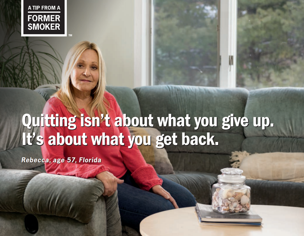 Rebecca: Quitting isn't about what you give up. It's about what you get back.