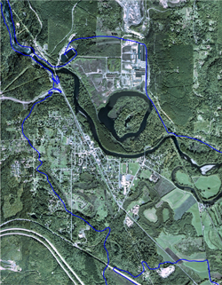 Snoqualmie River project aerial photo