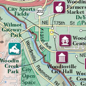 Map detail: Sammamish Valley Tourism & Recreation Map Guide