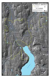 Map: City of Redmond - LIDAR Hillshade (130K JPEG)