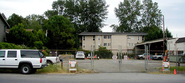 Site of former King County Parks maintenance building