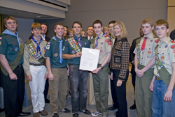 Council honors Eagle Scouts