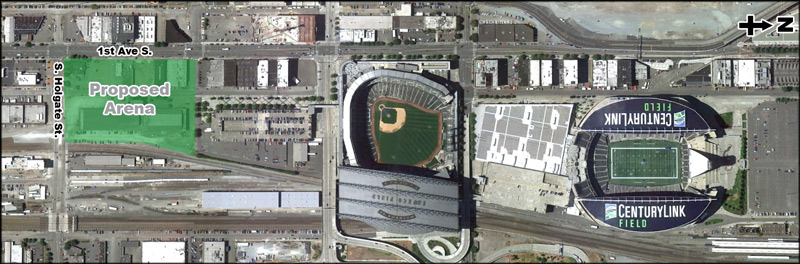 Image: Proposed arena overhead view