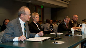 Image: Separately elected officials testify before the King County Council