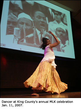Dancer at King County's annual MLK celebration