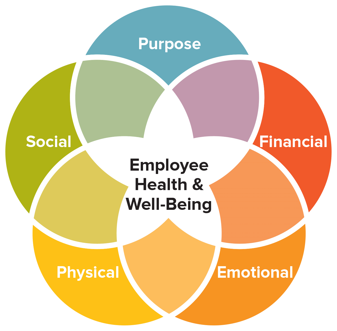 Employee health and well-being diagram