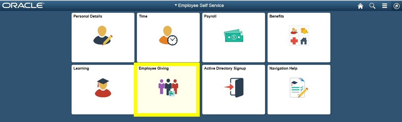 Peoplesoft-MyGiving