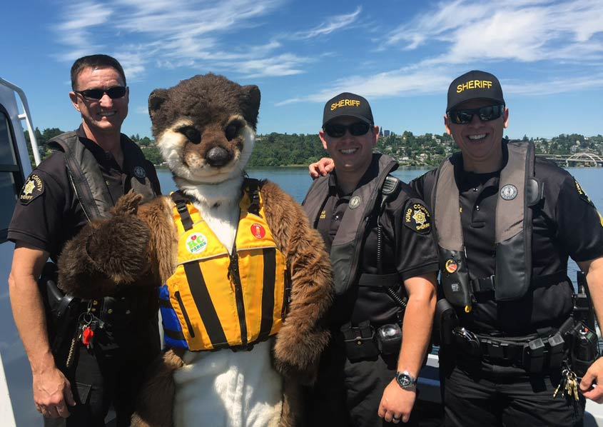 An otter shares an important river safety message