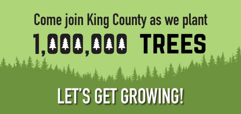 Come join King County as we plant 1,000,000 trees.