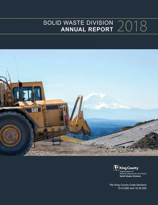 2018 Solid Waste Division Annual Report cover (PDF)