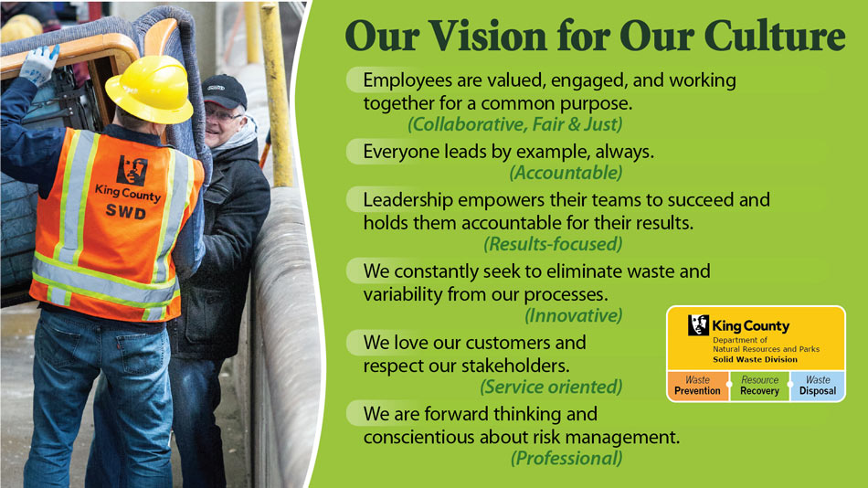 Solid Waste Division - our vision for our culture