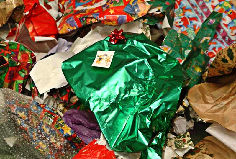 Recycle your wrapping paper